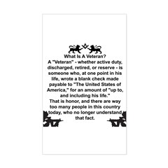 What is a Veteran? Rectangle Decal