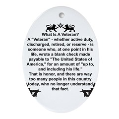 What is a Veteran? Oval Ornament