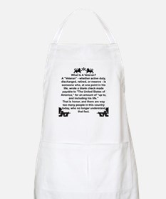 What is a Veteran? BBQ Apron