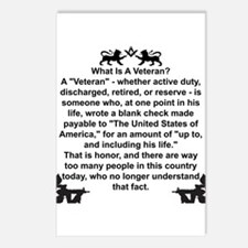 What is a Veteran? Postcards (Package of 8)