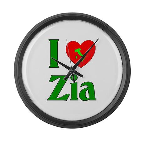 I (heart) Love Zia Large Wall Clock