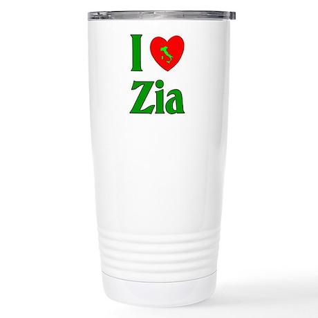I (heart) Love Zia Stainless Steel Travel Mug
