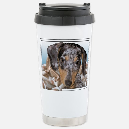 Speckled Dachshund Dogs Stainless Steel Travel Mug