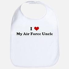 I Love My Air Force Uncle Bib