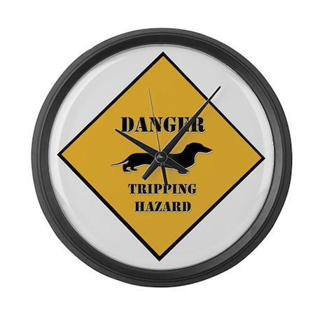 Tripping Hazard Large Wall Clock