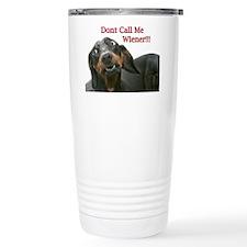 Who U Callin Wiener Travel Mug