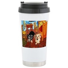 Double Dachshunds Van Gogh Travel Mug