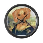 Mona Dachshund Large Wall Clock
