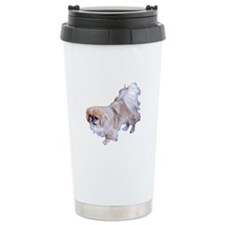 Pekingese Dog Ceramic Travel Mug