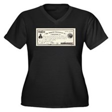 Emperor Norton Ten Dollar Bill Women's Plus Size V