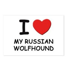 I love MY RUSSIAN WOLFHOUND Postcards (Package of