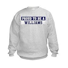 Proud to be Williams Sweatshirt