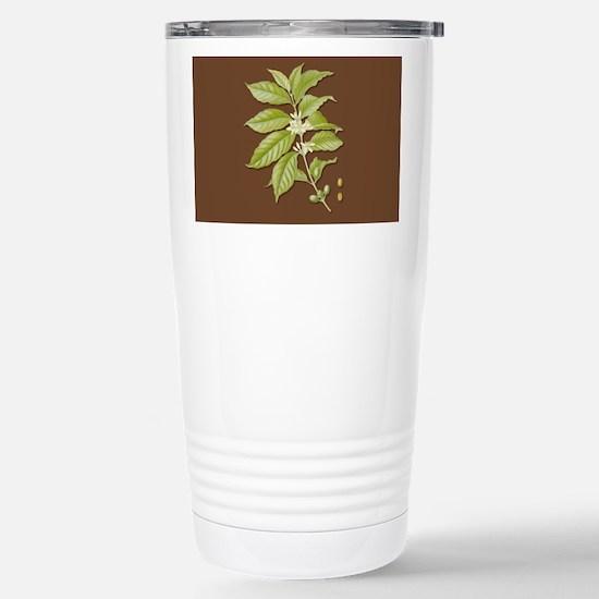 Coffee Plant Stainless Steel Travel Mug