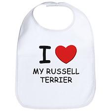 I love MY RUSSELL TERRIER Bib