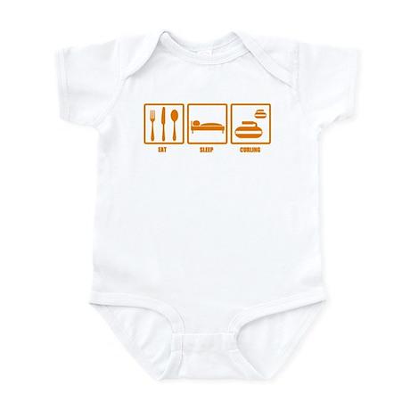 Eat Sleep Curling Infant Bodysuit