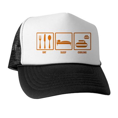Eat Sleep Curling Trucker Hat