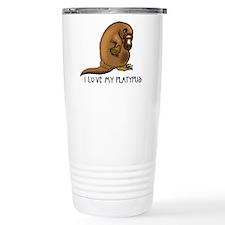 I Love my Platypus Travel Mug