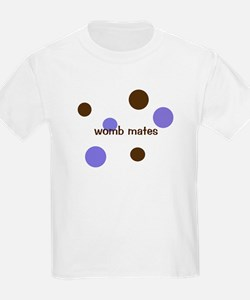 Womb Mate- for twin boys Kids T-Shirt