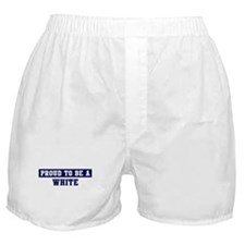 Proud to be White Boxer Shorts