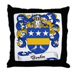 Boutin Family Crest Throw Pillow