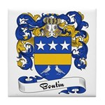 Boutin Family Crest Tile Coaster