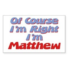 Matthew Is Right Rectangle Decal