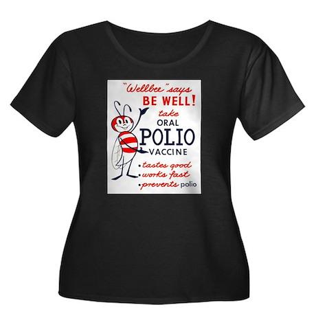 Wellbee Women's Plus Size Scoop Neck Dark T-Shirt