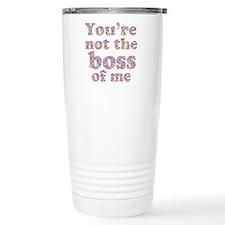 Not the Boss of Me (girly) Ceramic Travel Mug