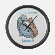 Love You Forever Large Wall Clock