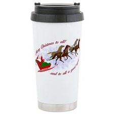 Horsey Christmas Travel Mug