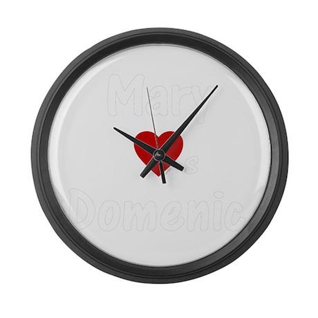 Mary Heart(s) Domenic Large Wall Clock