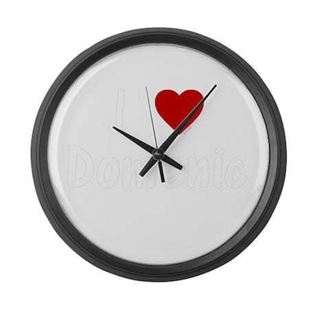 I Heart Domenic Large Wall Clock