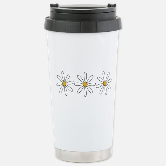 Daisies Stainless Steel Travel Mug