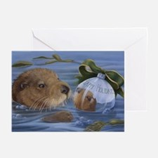 Christmas Otter Greeting Cards (Pk of 20)