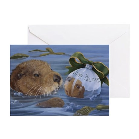 Christmas Otter Greeting Cards (Pk of 10)
