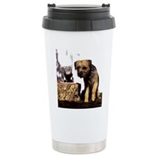 Border Terrier and Rat Travel Mug
