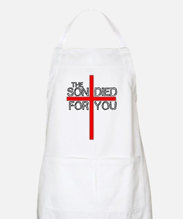 The Son Died For You Christia BBQ Apron