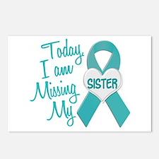Missing My Sister 1 TEAL Postcards (Package of 8)