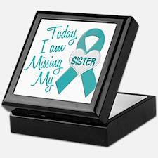 Missing My Sister 1 TEAL Keepsake Box