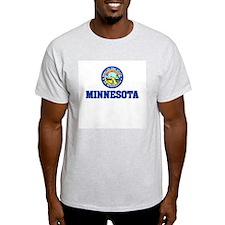 Minnesota State Seal Ash Grey T-Shirt