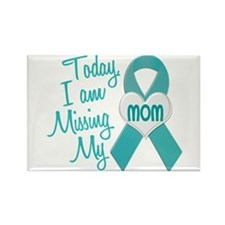 Missing My Mom 1 TEAL Rectangle Magnet