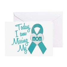 Missing My Mom 1 TEAL Greeting Card