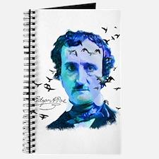 Edgar Allan Poe in Shades of Blue Journal