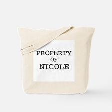 Property of Nicole Tote Bag