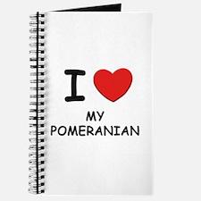 I love MY POMERANIAN Journal