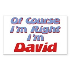 David Is Right Rectangle Decal