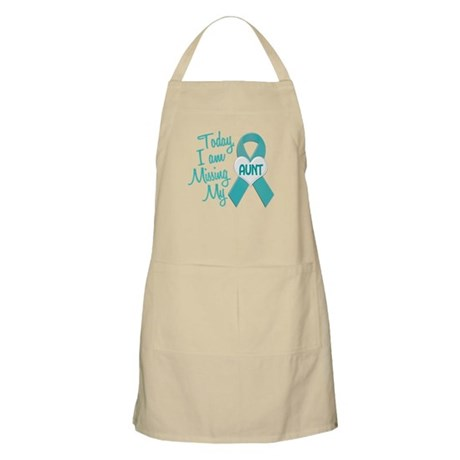 Missing My Aunt 1 TEAL BBQ Apron