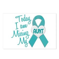 Missing My Aunt 1 TEAL Postcards (Package of 8)