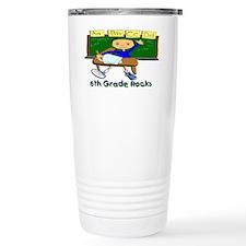 Student at Desk 6th Grade Travel Mug