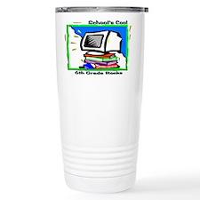 PC & Books 6th Grade Travel Mug